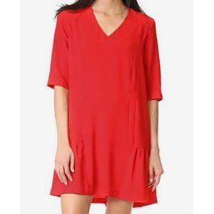 SUNCOO | Red Shift Dress